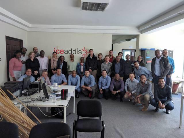 Group photo at iceaddis